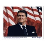 Reagan on Liberal Ignorance Small Poster