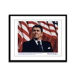 Reagan on Liberal Ignorance Framed Panel Print