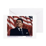 Reagan on Liberal Ignorance Greeting Card