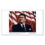 Reagan on Liberal Ignorance Rectangle Sticker