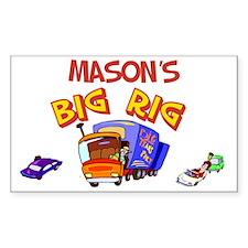 Mason's Big Rig Rectangle Decal