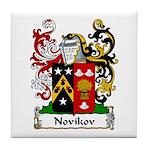 Novikov Family Crest Tile Coaster