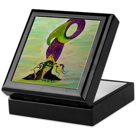 Mardi Gras Mermaid Keepsake Box