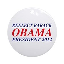 Reelect Obama 2012 Ornament (Round)