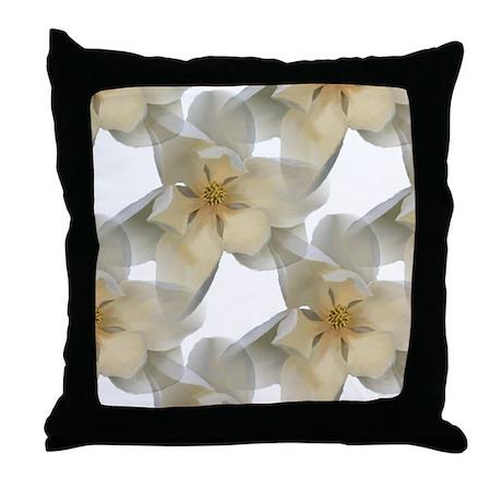 Magnolia Throw Pillow by trishstreasures