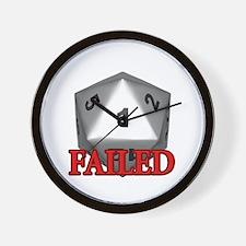 Failed D20 Wall Clock