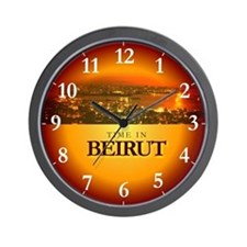 Time in Beirut Wall Clock