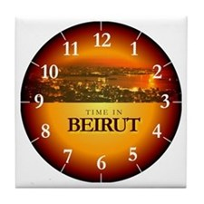 Time in Beirut Tile Coaster