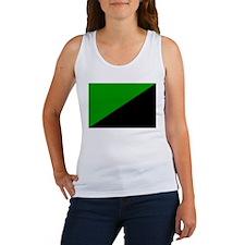 Green Anarchist  Women's Tank Top