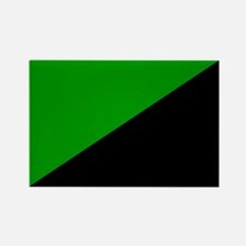 Green Anarchist Rectangle Magnet (10 pack)