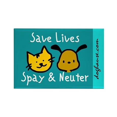 Save Lives Spay & Neuter Rectangle Magnet (10 pack