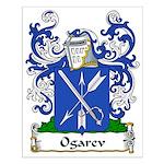 Ogarev Family Crest Small Poster