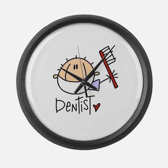 Male Dentist Large Wall Clock