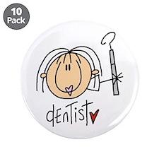 "Female Dentist 3.5"" Button (10 pack)"