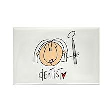 Female Dentist Rectangle Magnet