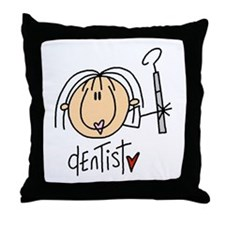Female Dentist Throw Pillow