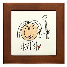 Female Dentist Framed Tile