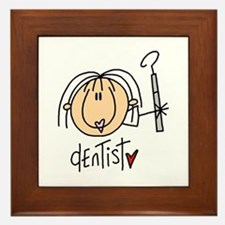 Female Dentist Framed Tile