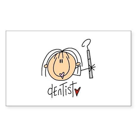 Female Dentist Rectangle Sticker