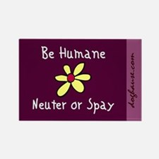 Be Humane Spay & Neuter Rectangle Magnet