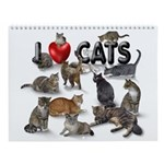 """Wall Calendar """"I Love Cats"""""""