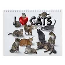 "Wall Calendar ""I Love Cats"""