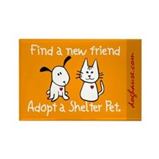 Find a New Friend Rectangle Magnet