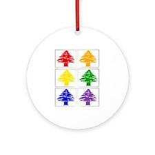 Rainbow Cedar Tree Keepsake (Round)