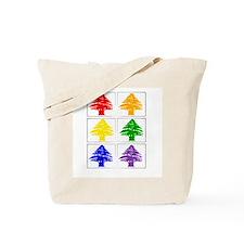 Rainbow Cedar Tree Tote Bag