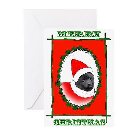 Schipperke Santa Greeting Cards (Pk of 10)