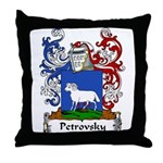 Petrovsky Family Crest Throw Pillow