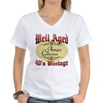 40th Birthday | Well Aged Women's V-Neck T-Shirt