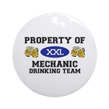 Property of Mechanic Drinking Team Ornament (Round