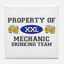 Property of Mechanic Drinking Team Tile Coaster