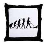Dachshund Wirehaired Throw Pillow