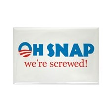 Oh Snap! We're screwed Rectangle Magnet (100 pack)