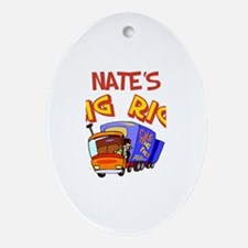 Nate's Big Rig Oval Ornament