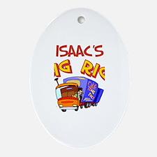 Isaac's Big Rig Oval Ornament