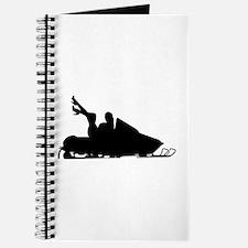 Girl on Sled Snowmobile Journal