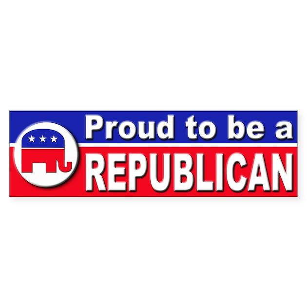 Republican Bumper Stickers Proud to be a Republic...