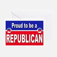 Proud to be a Republican Greeting Card
