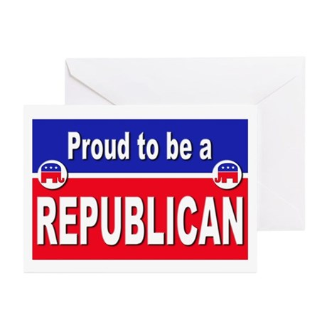 Proud to be a Republican Greeting Cards (Pk of 20)