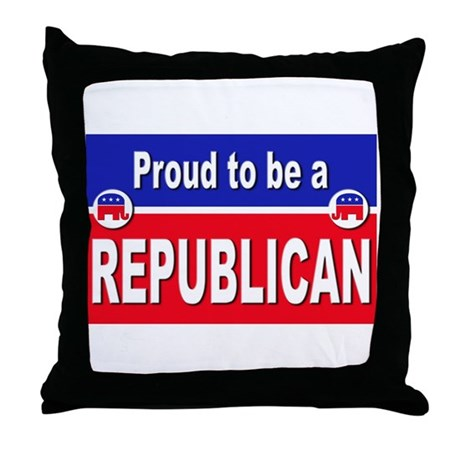 Proud to be a Republican Throw Pillow