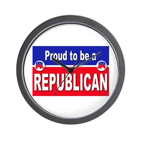 Proud to be a Republican Wall Clock