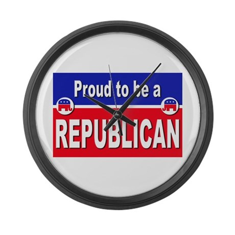 Proud to be a Republican Large Wall Clock