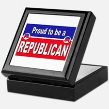 Proud to be a Republican Keepsake Box