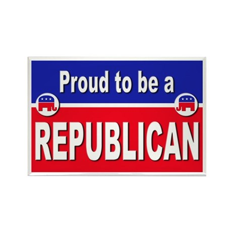 Proud to be a Republican Rectangle Magnet (10 pack