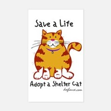 Shelter Cat Rectangle Decal