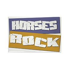 Horses ROCK Rectangle Magnet