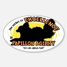 The Secret to Papillon Agility Oval Decal